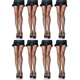 Leg Avenue Women's Industrial Net Pantyhose, Black,One Size, 8-Pair