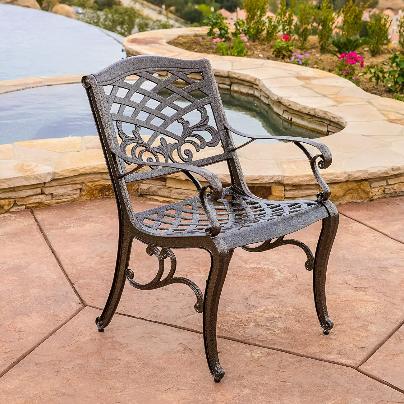 Covington Outdoor 5pcs Cast Aluminum Dining Set 4