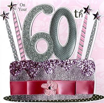 Second nature carte d 39 anniversaire 60 60 ans pour femme fournitures de de bureau m447 - Animation anniversaire 60 ans femme ...