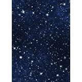 Star Sky Backdrop - Blue Night Sky Astronomy Galaxy Universe Student School Shiny Star - Printed Fabric Photography Background (G1065, 5' Wide by 7' Tall) (Color: G1065, Tamaño: 5' wide by 7' tall)