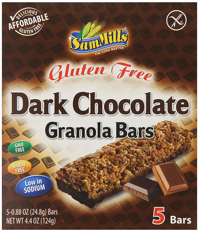 Sam Mills Gluten Free Granola Bars, Dark Chocolate, 4.4 Ounce i