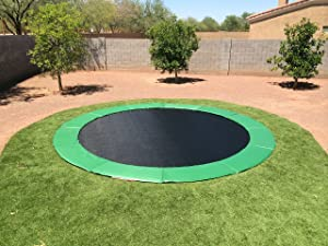 Gen III 15u0027 In Ground Trampoline Max Airflow System With Green Pad