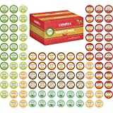 Cha4TEA 100-Count K Cups Tea Variety Sampler Pack for Keurig K-Cup Brewers, Multiple Flavors (Green Tea, Black Tea, Jasmine, Earl Grey, English Breakfast, Oolong Green Tea, Peppermint, Chai Tea)