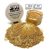 Gold Flake for Resin, Cosmetic Grade Gold Sparkle, Biodegradable Gold Glitter Powder, Mica Flakes for Epoxy Resin Making, Glitter Powder, Pigment Mica Flecks, Chunky Glitter Stardust Micas (Color: Gold Sparkle, Tamaño: 36 Gram Jar)