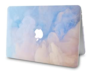 LuvCase 4 in 1 Bundle Hard Shell Case with Sleeve, Keyboard Cover and Screen Protector Compatible MacBook Old Pro 13 Case Retina A1502 / A1425, Released 2015/2014/2013/end 2012 (Blue Mist) (Color: Blue Mist with Sleeve, Keyboard Cover and Screen Protector, Tamaño: A1502/A1425 Old Pro 13 Retina (2015))