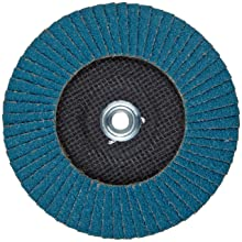 PFERD Polifan SGP Abrasive Flap Disc, Type 29, Threaded Hole, Phenolic Resin Backing, Zirconia Alumina