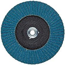 PFERD Polifan SGP Abrasive Flap Disc, Type 29, Threaded Hole, Phenolic Resin Backing, Zirconia Alumina