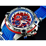 Invicta Marvel 52mm Bolt Viper Limited Ed CAPTAIN AMERICA Chrono Blue Dial Watch