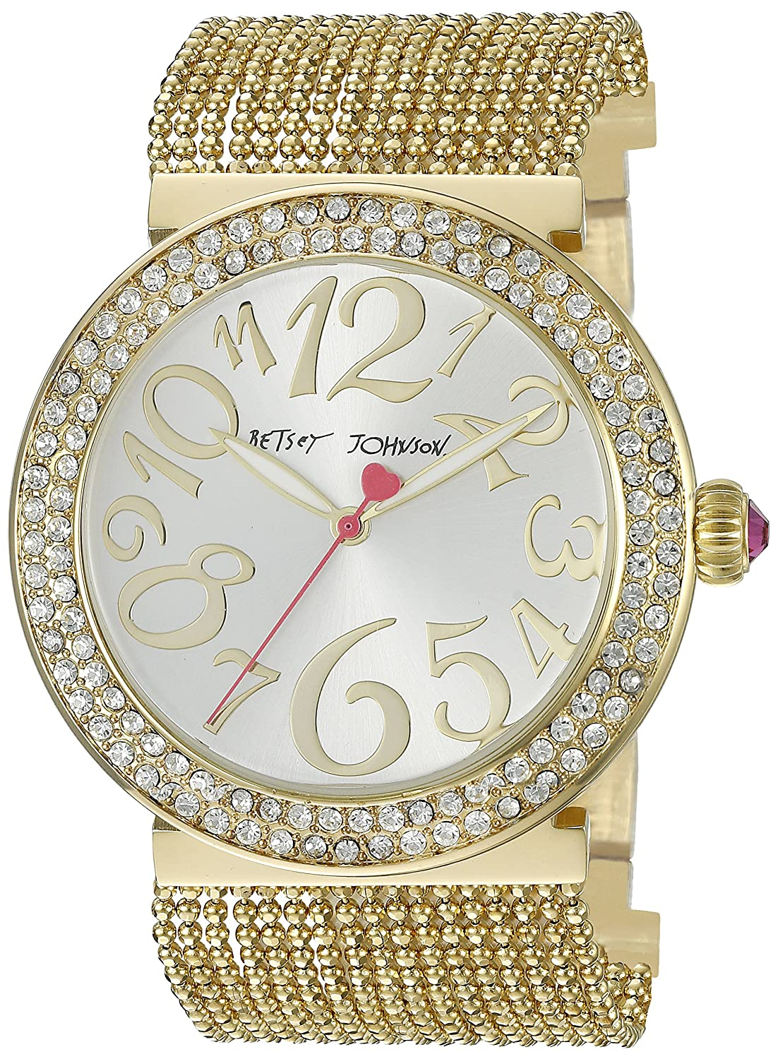 Betsey Johnson Women's BJ00497-02 Analog Display Quartz Gold Watch
