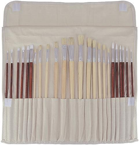 Art Advantage Oil and Acrylic Brush Set, 24-Piece via Amazon