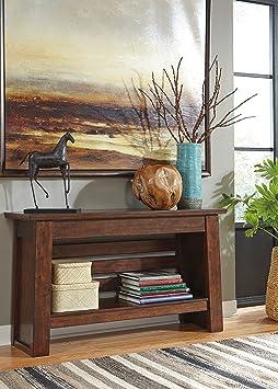 Harriepan Reddish Brown Sofa Table