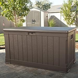 Lifetime Kissenbox Gartentruhe Auflagenbox 129x65x68 (LxBxH) 440l Volumen, 450kg Traglast  GartenKritiken und weitere Informationen