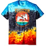 Liquid Blue Men's Led Zeppelin Icarus 1975 T-Shirt, Multi, Large (Color: Multi, Tamaño: Large)