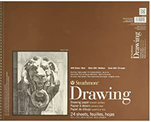 Strathmore (400-107 400 Series Drawing, Smooth Surface, 14x17, 24 Sheets (Color: White, Tamaño: 14x17)