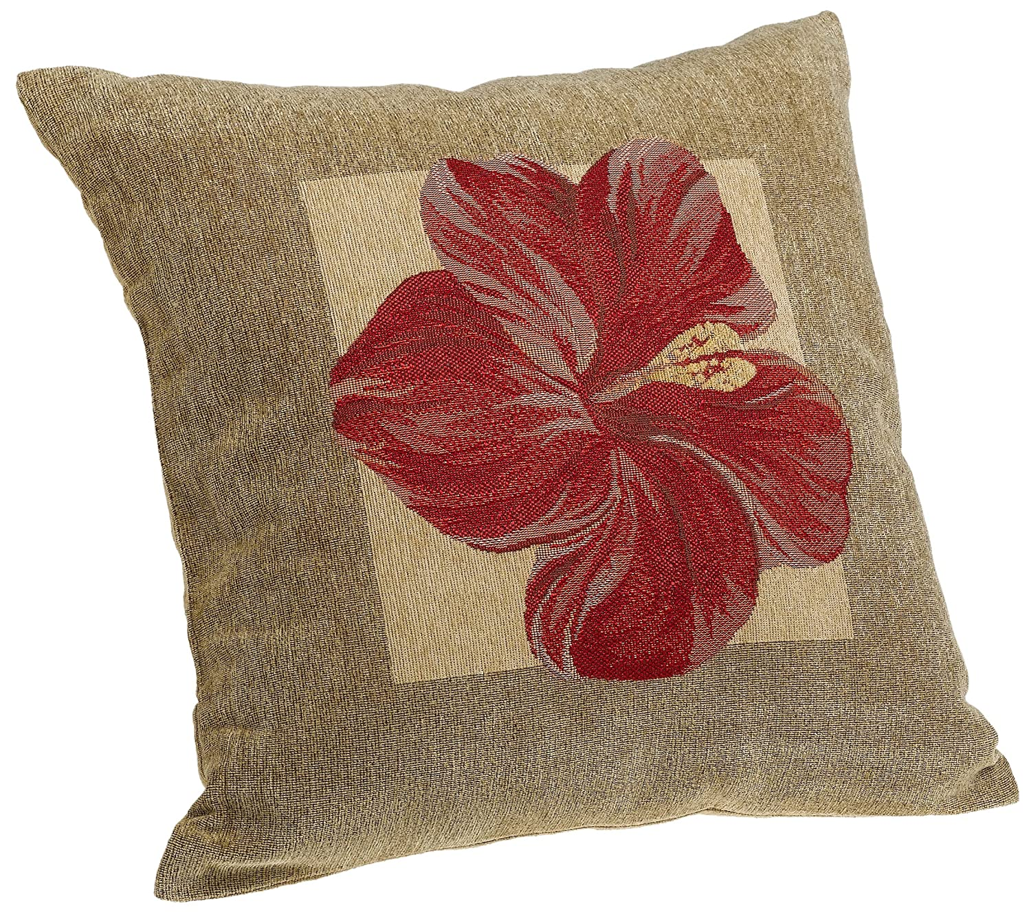 Brentwood Panama Jacquard Chenille 18-by-18-inch Knife Edge Decorative Pillow, R eBay