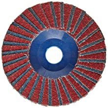 "Norton RedHeat Abrasive Flap Disc, Type 27, 5/8"" Arbor, Ceramic and Zirconia Alumina, 4"" Diameter, Grit 60 (Pack of 10)"