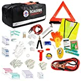 Always Prepared 149-Piece Roadside Assistance Auto Car Emergency Kit with Jumper Cables, First Aid Kit Items w/Medicine, and Critical Survival Items Included (Color: Black, Tamaño: 149 pieces)