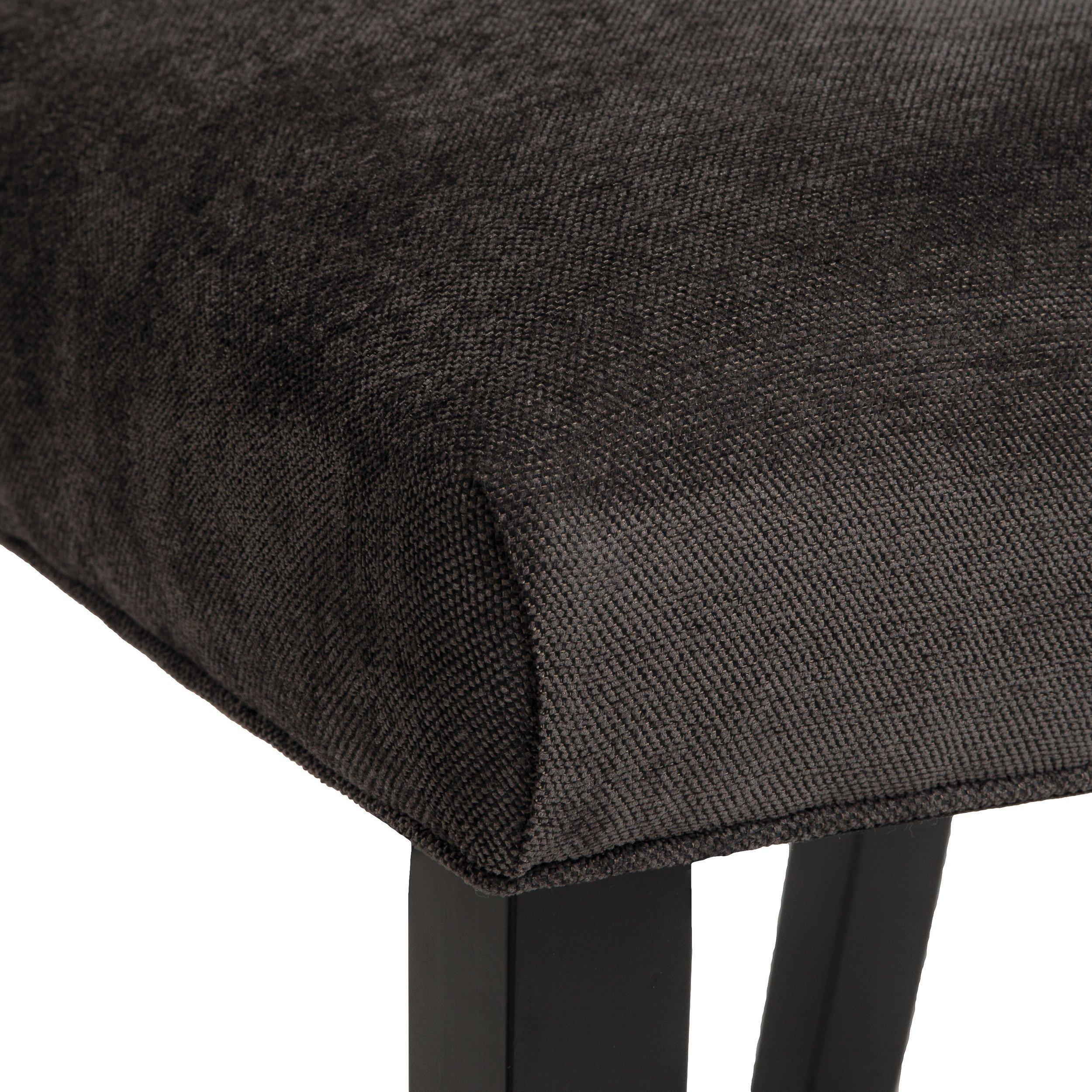 Clark Dark Grey Fabric Tufted Dining Chairs Set of 2