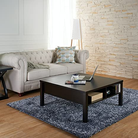 Evans Transitional Coffee Table, Cappuccino