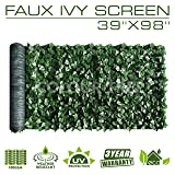 Artificial Hedges Faux Ivy Leaves Fence Privacy Screen Panels ?Decorative Trellis - 39