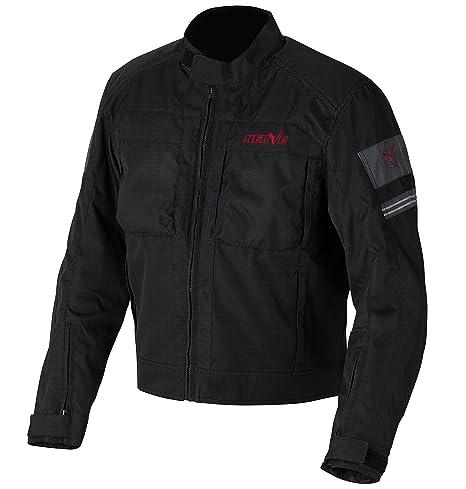 NERVE 1511150303_04 Move Blouson Moto d'Eté Textile Membrane, Noir/Gris, Taille : L