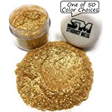 Biodegradable Gold Flake Glitter, Gold Mica Flakes, Metallic Gold Glitter Pigment Flake for Resin Making, Gold Cosmetic Grade Mica Gold Craft Glitter Stardust Micas (Color: Gold Sparkle, Tamaño: 10 Gram Jar)