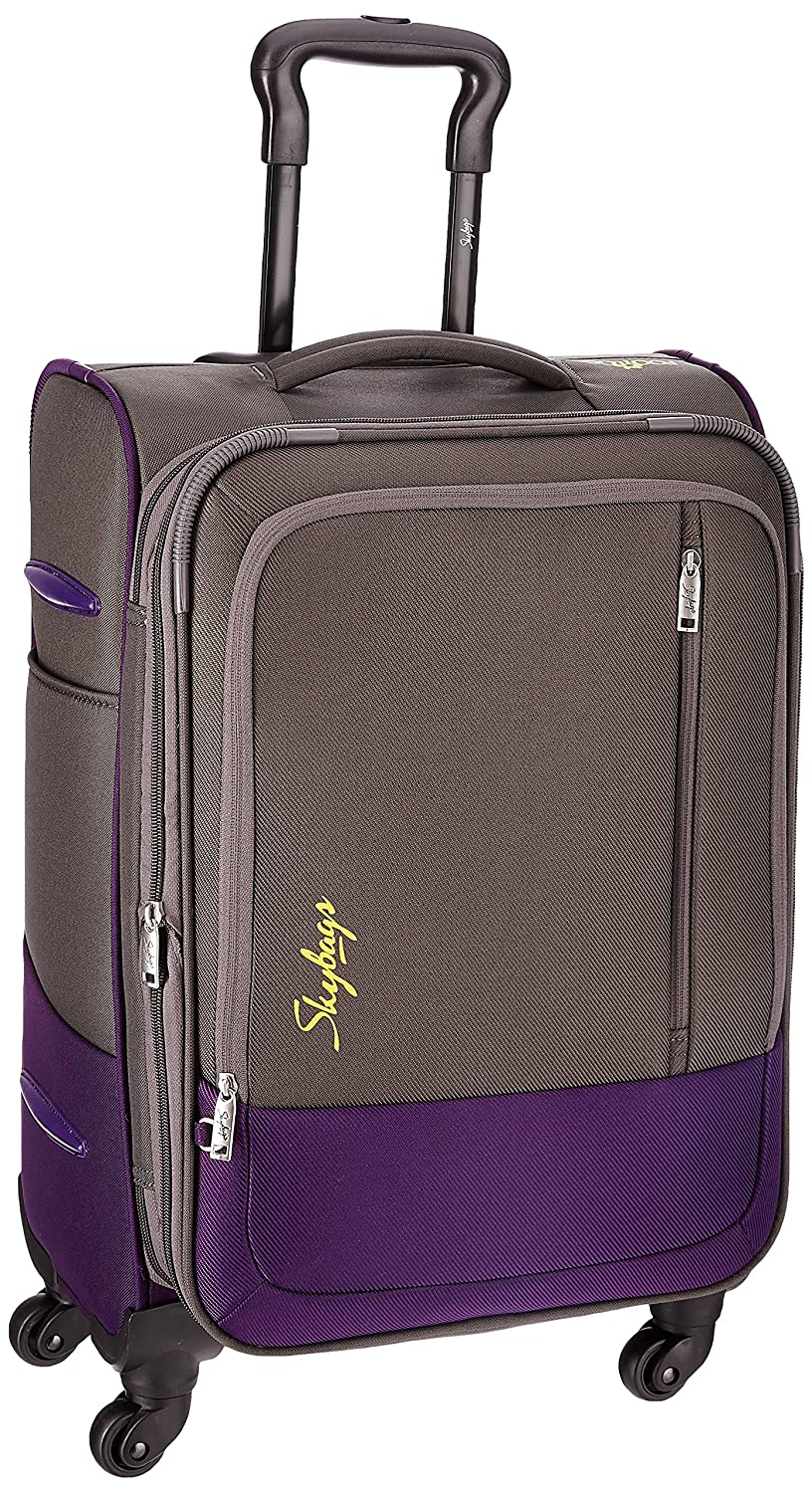 Skybags Romeo Polyester 58 cms Grey Softsided Suitcase (STROMW58GRY)