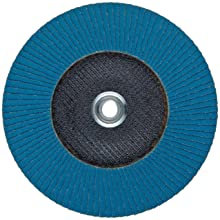 PFERD Polifan SGP Abrasive Flap Disc, Type 27, Threaded Hole, Phenolic Resin Backing, Zirconia Alumina