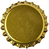 Home Brew Ohio Gold Crown Bottle Caps (Pack of 144) (Color: Gold, Tamaño: 1 - Pack)