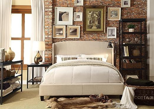 Millbury HOME Chavelle Beige Upholstery Platform Bed (Queen Size)
