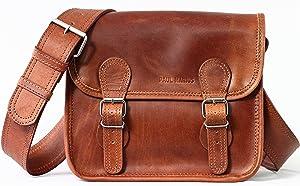 Sacoche Cuir Vintage - Retro Besace cuir bandoulière signé Paul Marius taille S   Commentaires en ligne plus informations