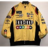 2017 Kyle Busch M&M's Mens Yellow Twill Nascar Jacket by JH Design (XL) (Color: Yellow, Tamaño: X-Large)
