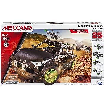 Meccano - 6026397 - Jeu de Construction - Rallye 25 Modèles Motorisés