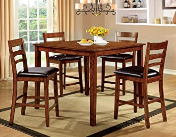 Furniture of America Bradford 5-Piece Transitional Pub Dining Set