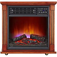 Haier Fireplace Frame Infrared Zone Heater with Dark Oak Finish
