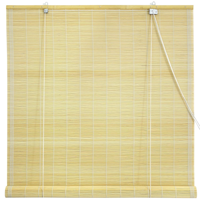 oriental furniture matchstick roll up window blinds natural 48 inch wide new ebay. Black Bedroom Furniture Sets. Home Design Ideas