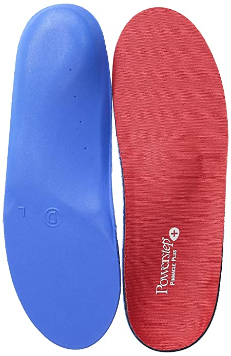 Powerstep® Pinnacle Plus Met Insoles, Red/Blue,Men's 6-6.5, Women's 8-8.5