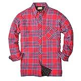 Backpacker BP-7002 Men's Flannel/Quilt Lined Shirt Jacket, Blue/Stuart, XX-Large (Color: Blue/Stuart, Tamaño: XX-Large)