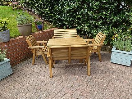 Wooden Childrens Patio Set - Solid Wood Outdoor Garden Patio Furniture