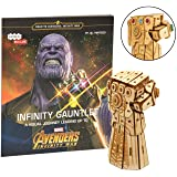Marvel Avengers Infinity War Infinity Gauntlet Book and 3D Wood Model Kit - Build, Paint and Collect Your Own Wooden Model - Great For Kids and Adults, 12+ - 4.5