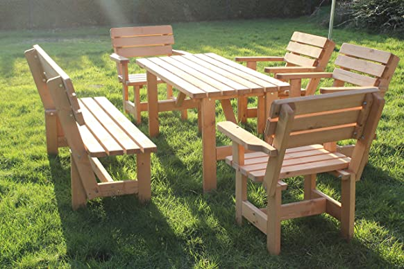 Set da giardino Nr 4sedile gruppo Lounge Set mobili da giardino mobili da giardino tavolo panca 1x tavolo + 1x + 4x sedia