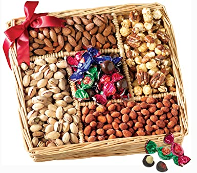 Broadway Basketeers Gift Basket, Gourmet Sweet and Savory Nut