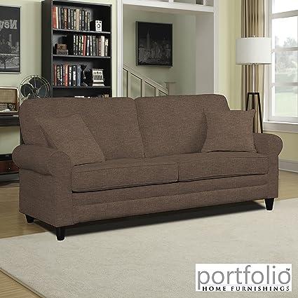 Metro Shop Portfolio Bradley Chocolate Brown Linen SoFast Sofa