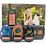 KoolKani Remote Dog Training Shock Collar & Underground/in-Ground Electronic Dog Containment Fence System Combo (Three Dog System) (Tamaño: Three Dog System)