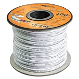 18AWG Low Voltage LED Cable, 3 Conductor, Outdoor Rated, Jacketed in-Wall Speaker Wire UL/cUL Class 2, Sunlight Resistant (100ft) (Tamaño: 100 ft. Spool)