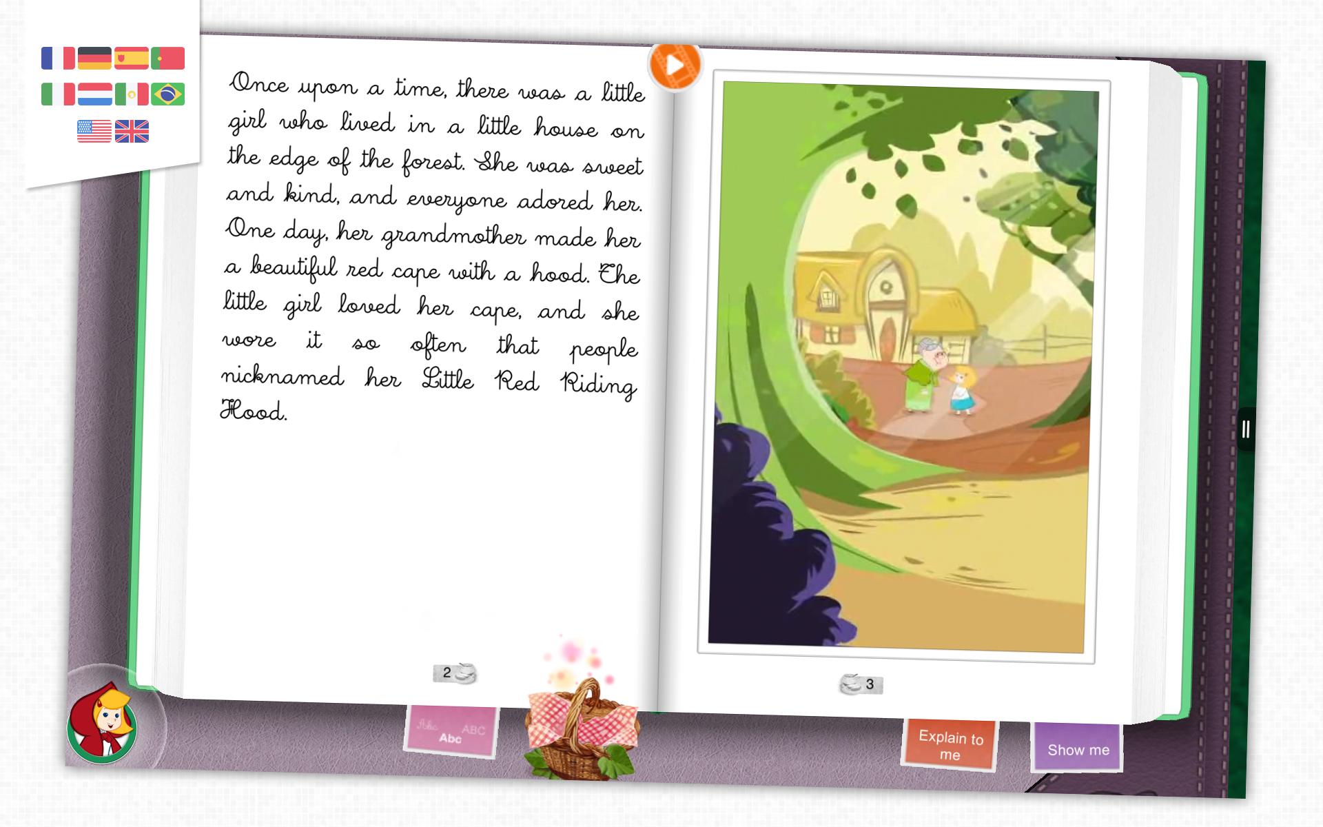 Le Petit Chaperon Rouge Livre interactif pour enfants