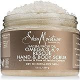 Shea Moisture Sacha Inchi Oil Omega-3-6-9 Rescue Hand Body Scrub for Unisex, 12 Ounce (Color: Sacha Inchi Oil, Tamaño: 12 oz)