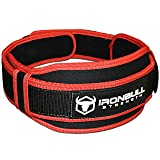 Weight Lifting Belt - High Performance Neoprene Back Support for Lifting - Light & Heavy Duty Core Support for Weightlifting, Cross Training and Fitness (Color: Black/Red, Tamaño: Small)