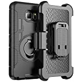 Galaxy Note 5 case, E LV Samsung Galaxy Note 5 (SHOCK PROOF DEFENDER) Shell Holster Full protection from drops and impacts for Samsung Galaxy Note 5 (Color: BLACK)