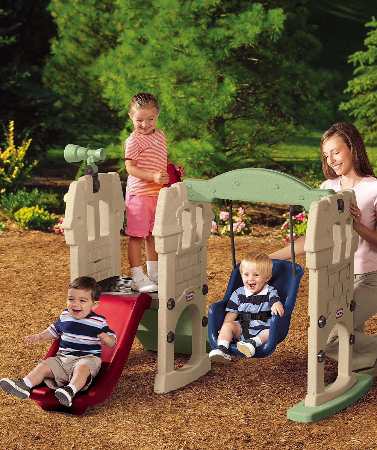 An Image of Little Tikes Endless Adventures Swing Along Castle